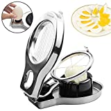 Bibury Boiled Egg Slicers, Stainless Steel Egg Slicer Cutter Heavy Duty, with Safety-Lock