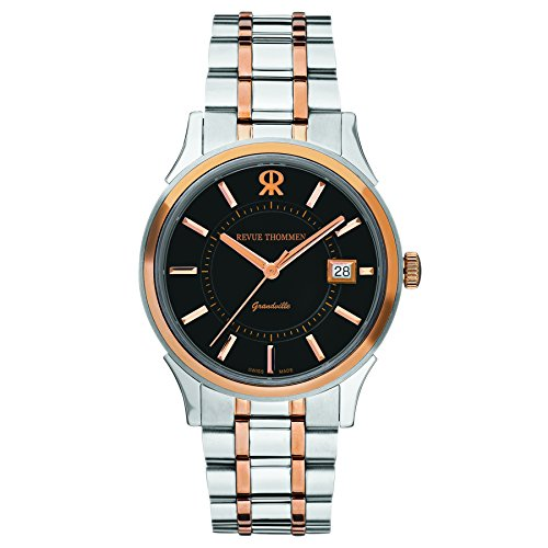 Revue Thommen Grandville Men's Automatic Analogue Watch Coated Stainless Steel - 21015.2157