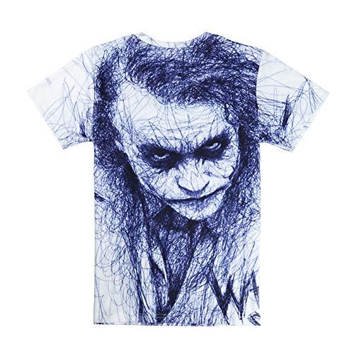 JJZHY Gedenk Clown Heath Ledger 3D Digitaldruck T-Shirt,A,L