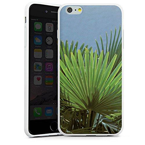Apple iPhone X Silikon Hülle Case Schutzhülle Palme Blatt Palmenwedel Silikon Case weiß