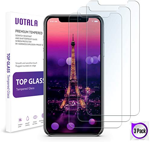 iPhone XR Screen Protector  [3 PACK] iPhone XR Tempered Glass Screen Protector. Crystal Clear 9H hardness 3D Touch Compatible 2018 New iPhone XR Glass Screen Protector