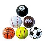 Quate Einzigartige Fun Sport Golfbälle Geschenkset (6er Set)