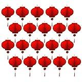 Winthai Chinesische Lampions, Chinesische Laternen, 20 STÜCKE Faltbare Wasserdichte Glück Rote Papierlaternen für Chinesisches Neujahrsfest Frühlingsfest Party Feier Dekoration 20 cm