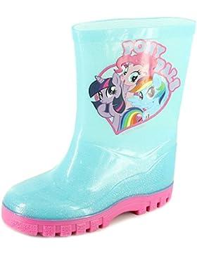 New Girls / Kinder blau My little Pony Charakter Gummistiefel - hellblau - UK Größen 6-12