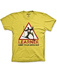 Varsity Punk Ski Learner, Keep Your Distance T-Shirt