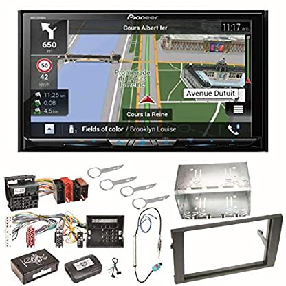 Pioneer-AVIC-Z810DAB-Navigation-Digitalradio-CarPlay-Android-Auto-Bluetooth-USB-DAB-CD-DVD-MP3-Einbauset-fr-Audi-A4-B7-Seat-Exeo