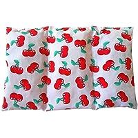 """Saco térmico """"Cherries"""" – 26 X 16 cm (M/L) – relleno con 330gr de huesos de cereza - para microondas y congelador"""