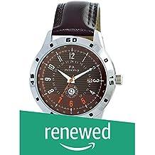 (Renewed) MAXIMA Analog Brown Dial Men's Watch - O-52022LMGI