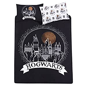 harry potter hogwarts 2 tlg wende bettw sche set doppelbett 200x200 schwarz k che. Black Bedroom Furniture Sets. Home Design Ideas