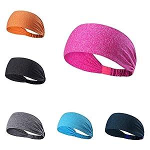 HCFKJ Breites Sport-Stirnband Stretch Elastic Yoga Running Headwrap Haarband