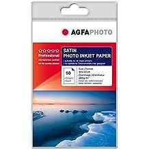 AgfaPhoto AP26050A6S - Papel fotográfico (Satén, Canon PIXMA IP3000iP4000iP4200iP4300MP600MP610 Epson Stylus Photo PX700W HP/Compaq DesignJet)