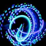 GloFX Team führte Handschuh-Set: Speer Minze - weiß Rave glühen Handschuhe
