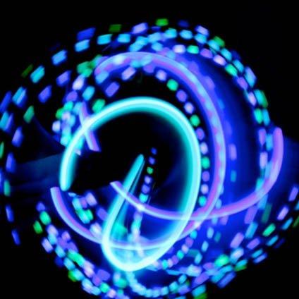 guanti laser GloFX Team guidato Set Guanto: Lancia Menta - Guanti Bianchi Bagliore Rave