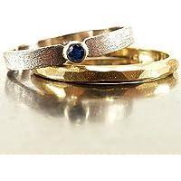 Verlobungsring aus Weißgold mit Saphir blau - handgefertigt by SILVERLOUNGE