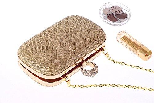 Abendtasche Handtasche Schulter Handtasche Hochzeit Gold