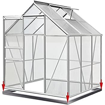 Speedwellstar 6x4 Greenhouse Aluminium & PolyCarbonate Green UV ...