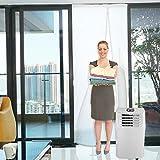 HOOMEE Sello De Tela de 90x210 CM para Aire Acondicionado Portátil y Secadoras. Es Fácil de Instalar - Protectores de Intercambio de Aire con Cremallera y Cinta de Velcro– No Se Necesitan Agujeros con Taladro para Instalar