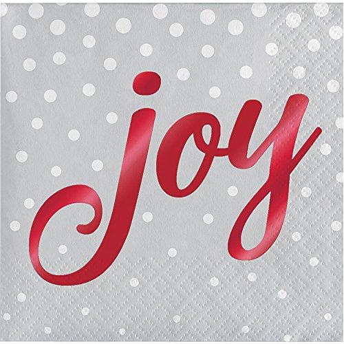 ay Sparkle & Shine silber Joy Christmas Party Getränke Servietten x 16 ()