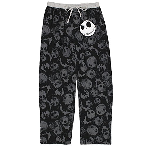 Nightmare Before Christmas Jack Skellington Lounge Pant for men (Small)
