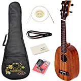 Kaka KUP-70 Koa With Green Shell Inlay Pineapple Ukulele Gig Bag Spare Aquila Strings Tuner Polishing Cloth And Belt