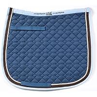 USG - Sudadero de algodón, Color Azul petróleo/Beige/marrón