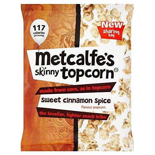 Skinny Topcorn Popcorn de Metcalfe - Sweet Cinnamon Spice (75g) - Paquet de 6