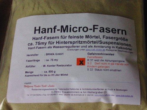 Micro-Hanf-Fasern 500 g für Spezial-Kalkmörtel