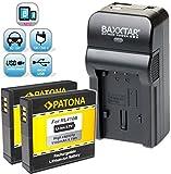 Baxxtar RAZER 600 Ladegerät 5 in 1 + 2x Patona Akku RL410B (echte 1100mAh) für Rollei Action Cam 230 240 400 410 usw -- NEUHEIT mit Micro-USB Eingang und USB-Ausgang, zum gleichzeitigen Laden eines Drittgerätes (GoPro, iPhone, Tablet, Smartphone..usw.) !!