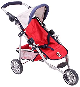 Bayer Chic 2000 612 95 Jogging Buggy Lola, muñeca Carro, Color Rojo