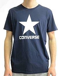 Converse SS Crew Logo Homme T-Shirt Bleu