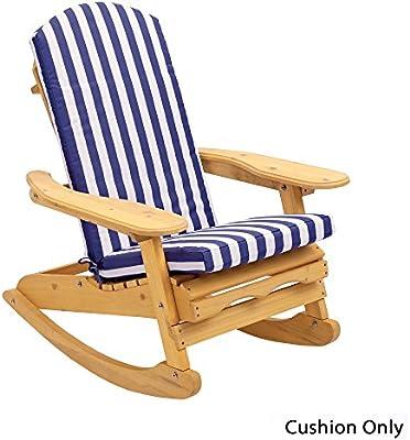 Adirondack Silla Asiento de lujo, respaldo y cojín para cabeza disponible en 6colores