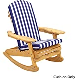 Adirondack Garden Chair Cushion One piece : Seat, Back & Head Cushion Available in 6 colours 520mm x 470mm - CUSHION ONLY Blue & White Stripe
