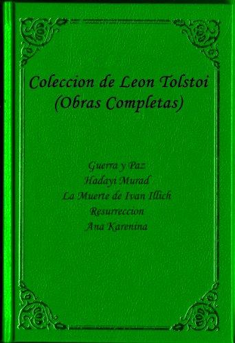 Coleccion de Leon Tolstoi (OBRAS COMPLETAS) Guerra y Paz, Hadayi ...
