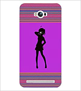 PrintDhaba Girly Design D-2601 Back Case Cover for ASUS ZENFONE MAX ZC550KL (2016) (Multi-Coloured)