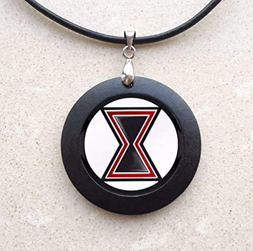 VAWAA Die Avengers Alliance Halskette Sell Like Hot Cakes Black Widow Logo Halskall (Black Widow Halskette)