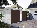 Doppelgarage 5,23 x 5,27 x 2,18 m mit braunen Toren von Hörmann