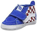 Vans In Sk8-Hi Crib, Mocasines Gatean para Bebés, Azul (Checkerboard Racing Red/Imperial Blue), 19 EU