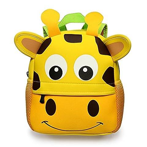 Cartoon Baby Rucksack Kindergarten Wasserdicht Schulranzen Krippe 3D Tier mini-backpack Reisetasche Freizeit Tasche D 'école primären für Mädchen/Jungen 3Monate bis 3Jahre Cerf