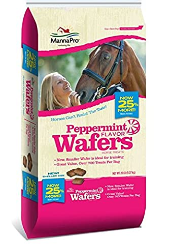 Manna Pro Peppermint Wafer Flavor Horse Treat Farming Care Equipment Food 20lbs