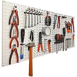 Panneaux muraux de rangement pour outils + crochets Gris 50 cm