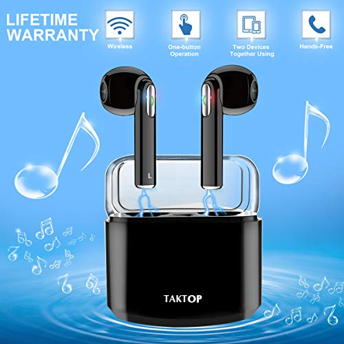 Auricolari Bluetooth, Mini Auricolari Wireless con Custodia di Ricarica Cuffie Bluetooth In Ear, Vero TWS Auricolari Senza Fili...