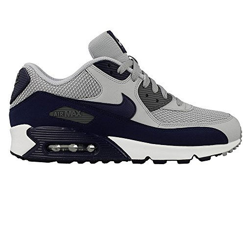 Nike Herren Air Max 90 Essential Low-Top Grau (Wolf Grey/binary Blue/dark Grey/white)