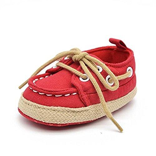 Rawdah , Baby Mädchen Lauflernschuhe rot rot Rot