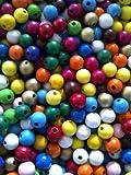 (0,02€/St.) 500x Holzperlen 8mm Perlen Mix Holz Basteln bunt Schnäppchen NEU