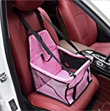 Zll Hund Autositz Haustier Auto Booster Sitz Haustier Hund Booster Autositz Tragbare und atmungsaktive Tasche Aufbewahrungspaket Perfekt für kleine und mittlere Haustiere,Pink