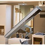 LED Spiegelleuchte / Chrom / warm weiß / Art. 2060 / 230 Volt / 10 Watt / 650lm / Schrankleuchte / Spiegelschrankbeleuchtung / Spiegelleuchte / Badleuchte