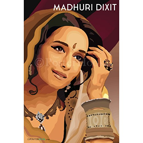 PosterHook Madhuri Dixit Wall Decor | Special Paper Poster (12x18 inches)  available at amazon for Rs.199