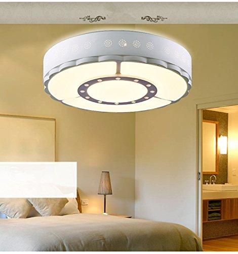 YIZHANGModernen Kreatives und einzigartiges Design Kronleuchter Wohnzimmer Hotel Büro Zimmer Dreifarbiges Dimmen Led Eisen Acryl 48,5 * 12cm -
