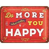 Nostalgic-Art 26192Word Up Do More of What Makes You Happy, Plaque de, métal, Multicolore, 15x 20x 0,2cm