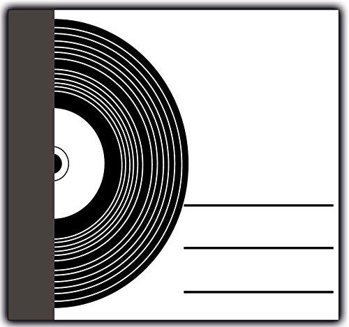 Motive Cd (Briefumschlag mit dem Motiv: Schallplatte / CD quadratisch edel elegant Kuverts / Umschlag / Umschläge - 50 Stück)